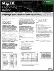 Diaphragm Seals Thermal Error Calculations