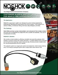 Customized Alarm/Shut-Off Solutions for Vehicle Suppression Systems