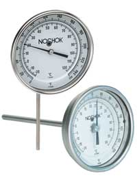 Vapor actuated remote thermometer