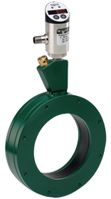 Type 40 flow-through annular style diaphragm seal with 800/810 series electronic indicating pressure transmitter/switch