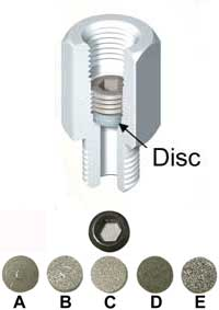 NOSHOK Sintered Snubbers Disc Options