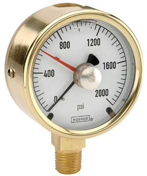 NOSHOK 300 Series Brass Gauge