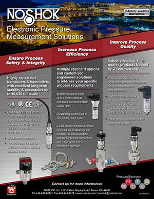 Value Added Benefits - Electronic Pressure