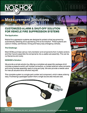 Alarm/Shut-off Package for Vehicle Fire Systems