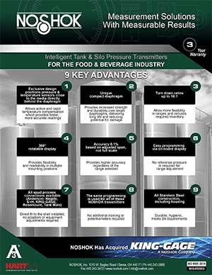 9 NOSHOK Tank & Silo Pressure & Level Transmitter Advantages