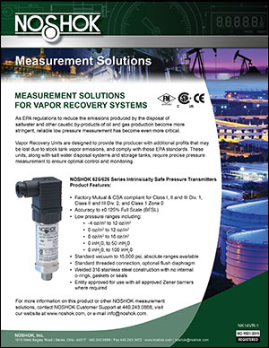 Measurement Solutions for Vapor Recovery Applications