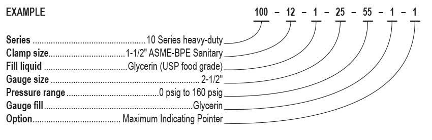 10 series fractional sanitary pressure gauges. Black Bedroom Furniture Sets. Home Design Ideas