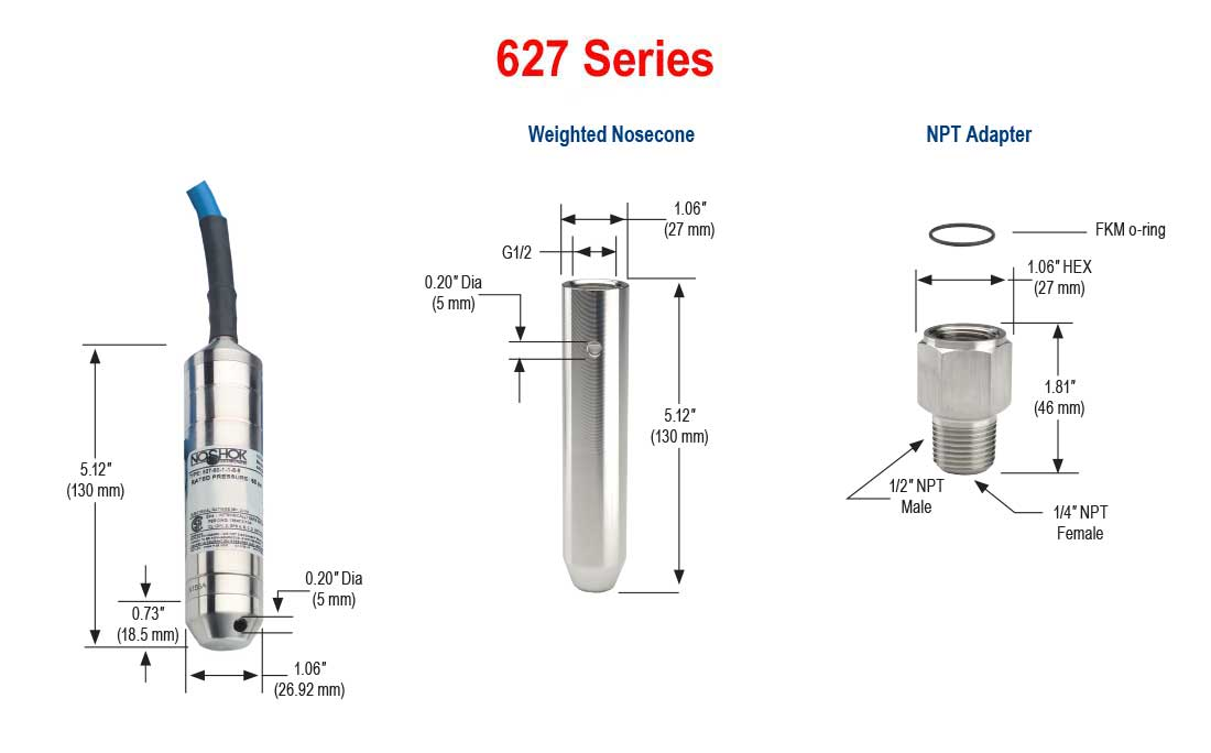 627 series intrinsically safe submersible liquid level